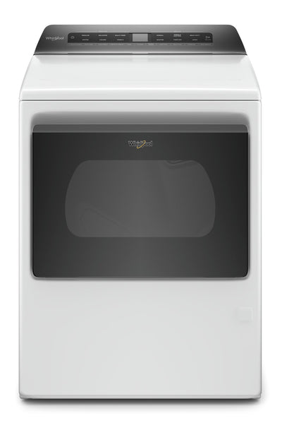 Whirlpool 7.4 Cu. Ft. Smart Front-Load Gas Dryer - WGD6120HW|Sécheuse à gaz intelligente Whirlpool de 7,4 pi3 à chargement frontal - WGD6120HW|WGD6120W