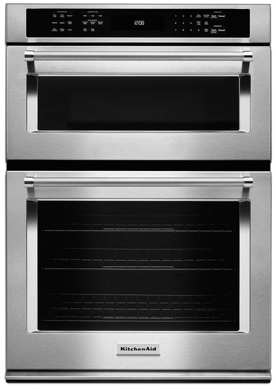 "KitchenAid 30"" Combination Wall Oven with Even-Heat™ True Convection - KOCE500ESS