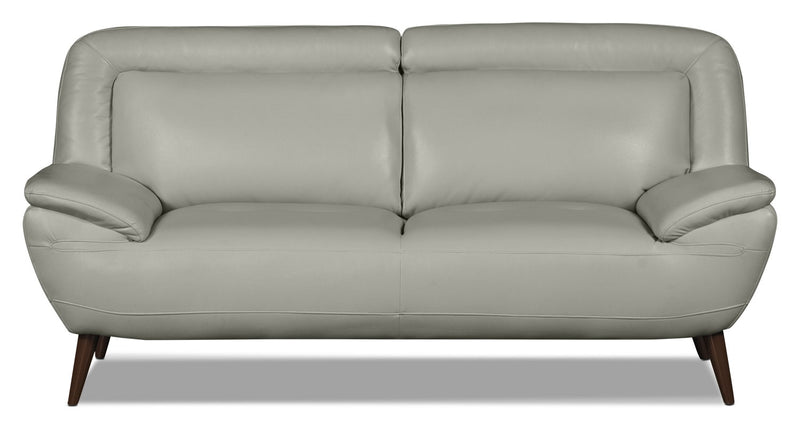 Roxy Leather-Look Fabric Studio-Size Loveseat - Beige|Causeuse Roxy d'apparence cuir - beige