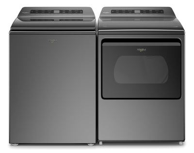 Whirlpool 5.4 Cu. Ft. Top-Load Washer and 7.4 Cu. Ft. Gas Dryer - Chrome Shadow