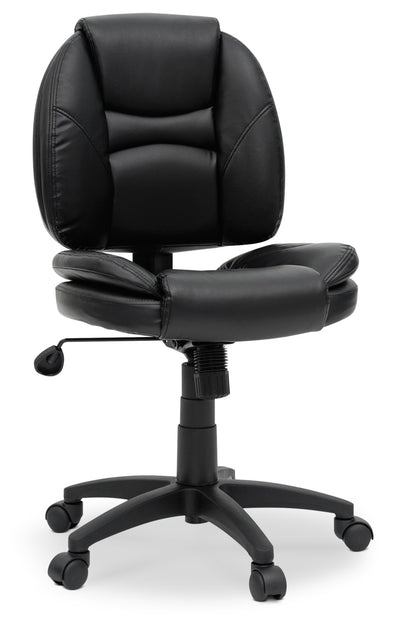 Kansas Office Chair - Contemporary style Office Chair in Black Plastic and Faux Leather