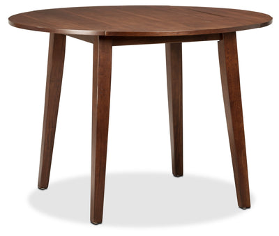 Adara Round Drop-Leaf Dining Table - Contemporary style Dining Table in Burnished Mango