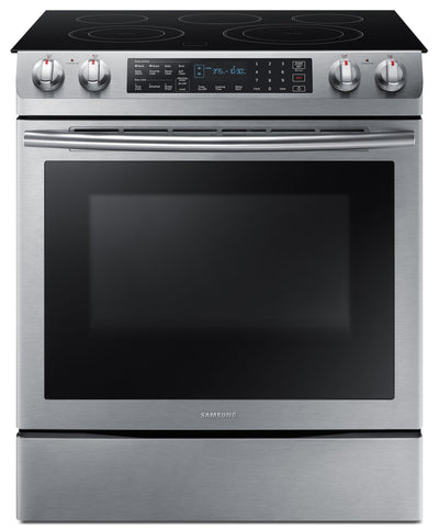 Samsung 5.8 Cu. Ft. Electric Slide-In Dual Convection Range – NE58M9430SS/AC - Electric Range in Stainless Steel