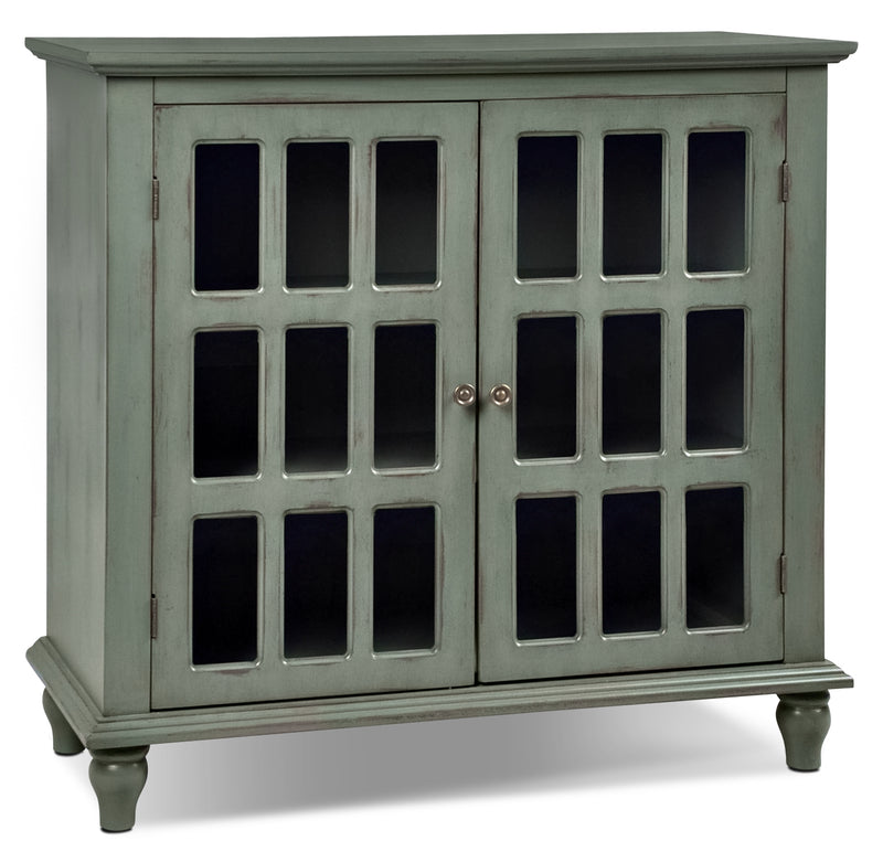Bray Accent Cabinet - Antique Blue|Armoire décorative Bray - bleu antique|BRABLACC