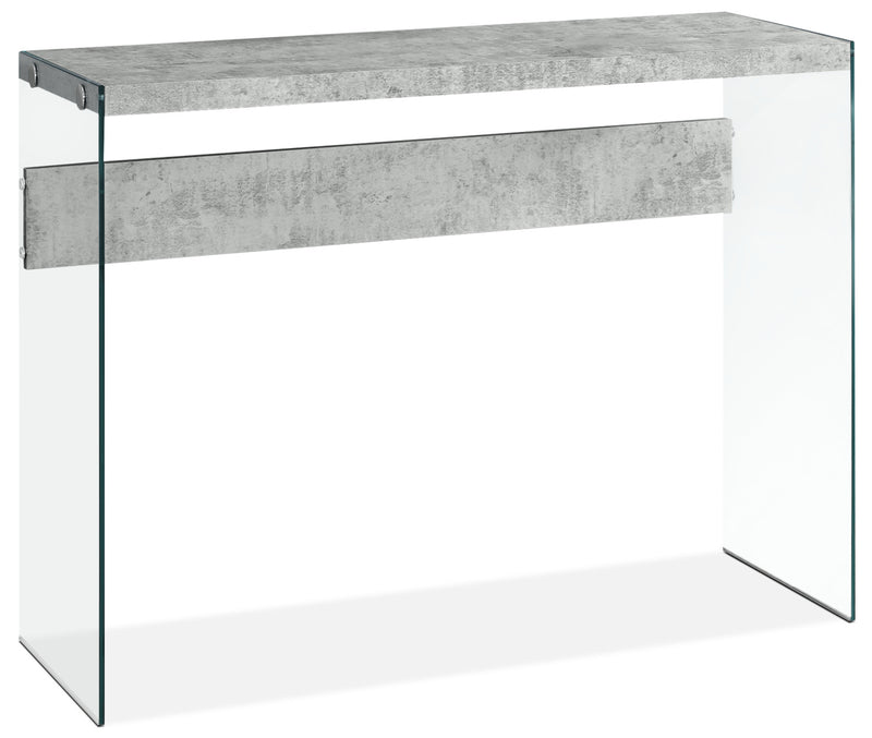 Yonah Sofa Table – Cement Grey|Table de salon Yonah – gris ciment