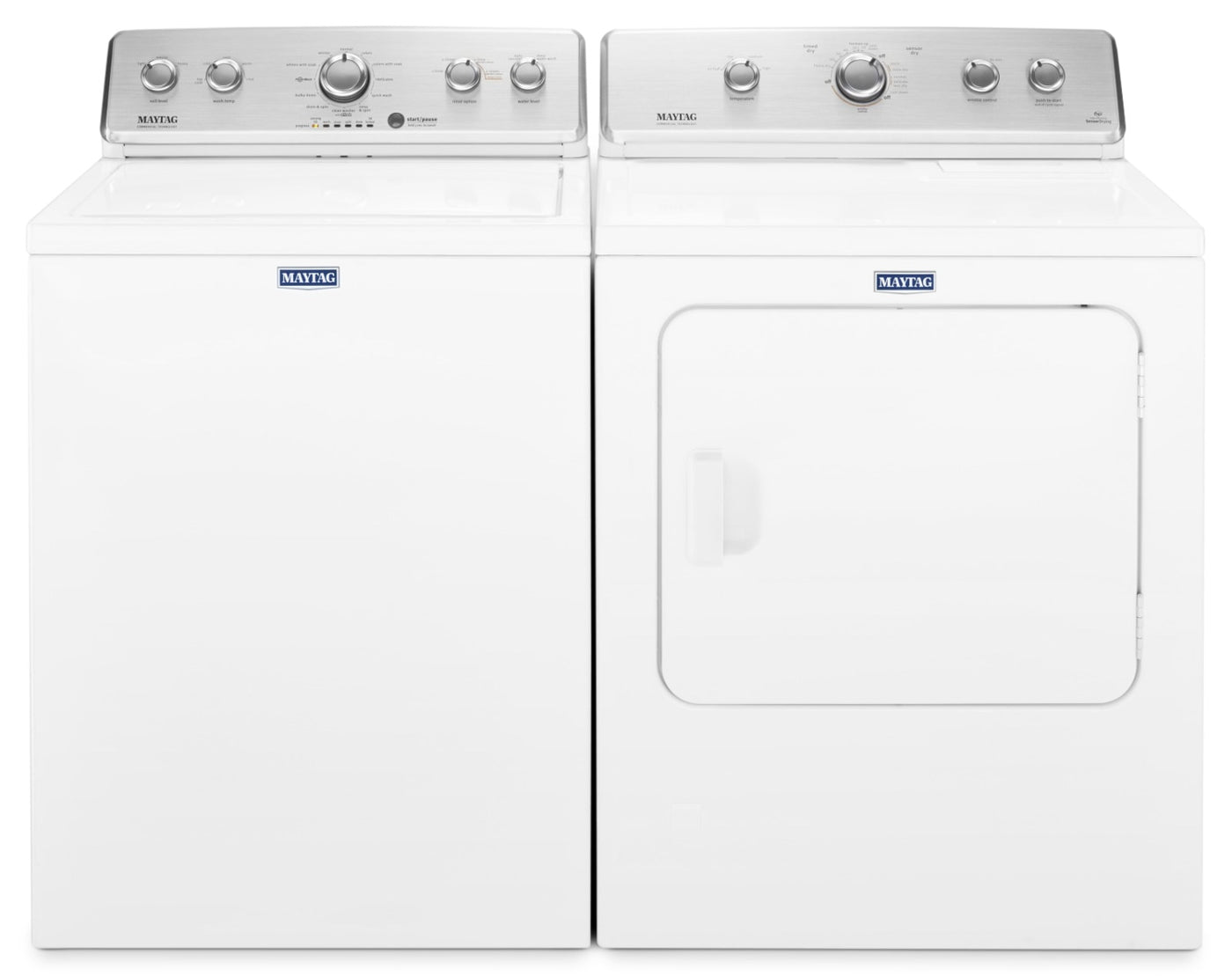Maytag 4 4 Cu  Ft  Top-Load Washer and 7 0 Cu  Ft  Electric Dryer – White