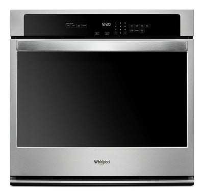 "Whirlpool 27"" 4.3 Cu. Ft. Single Wall Oven - WOS31ES7JS - Electric Wall Oven in Stainless Steel"