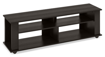 "Bakersfield 58"" TV Stand - Contemporary style TV Stand in Black Engineered Wood"