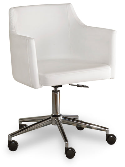 Bexley Swivel Chair - Modern style Office Chair in White