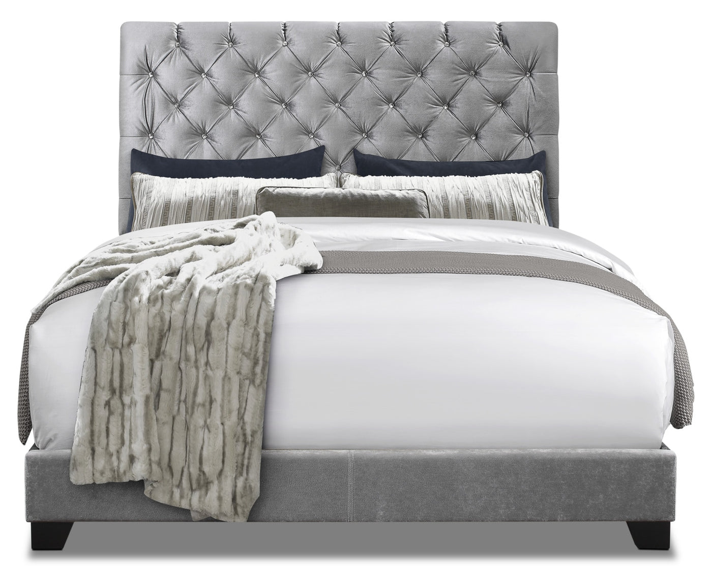 Queen Bed.Candace Upholstered Queen Bed