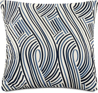 Swizzle Accent Pillow – White, Blue and Black