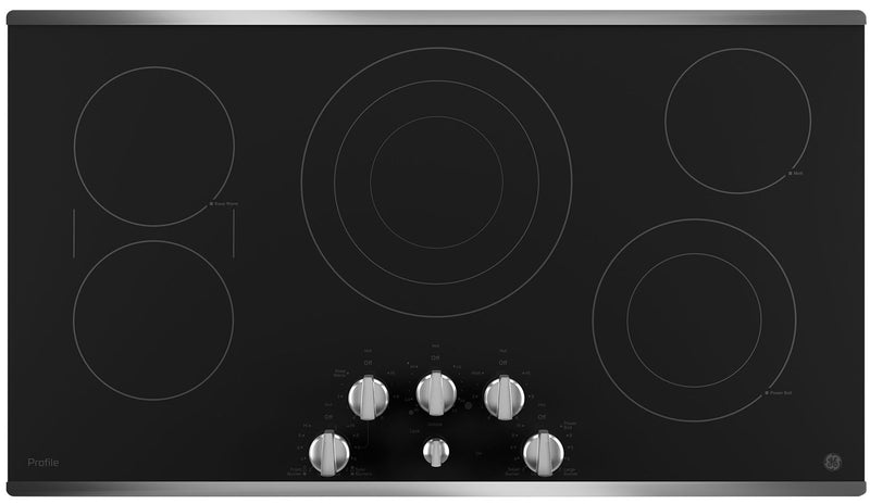 "GE Profile 36"" Electric Cooktop – PP7036SJSS