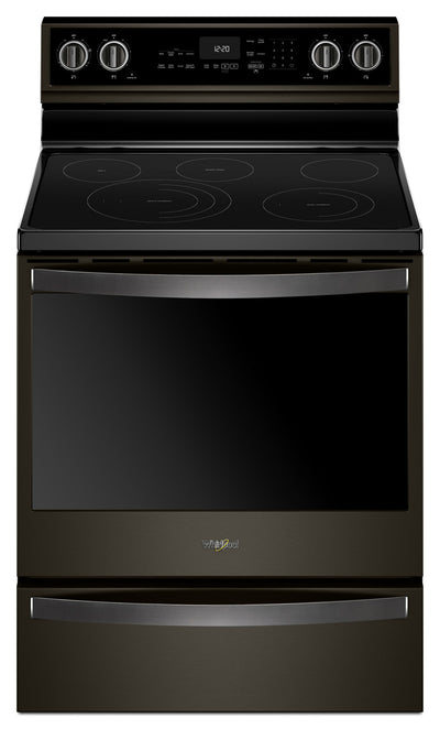 Whirlpool® 6.4 Cu. Ft. Electric Freestanding Range with 5 Elements - Electric Range in Black Stainless Steel