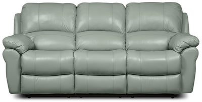 Kobe Genuine Leather Reclining Sofa - Blue|Sofa inclinable Kobe en cuir véritable - bleu|KOBEBLRS