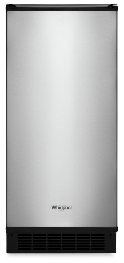 "Whirlpool 15"" Ice Maker with Clear Ice Technology - WUI75X15HZ - Ice Maker in Fingerprint Resistant Stainless Steel"