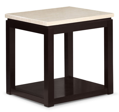 Sicily End Table – Beige - Contemporary style End Table in Black Wood