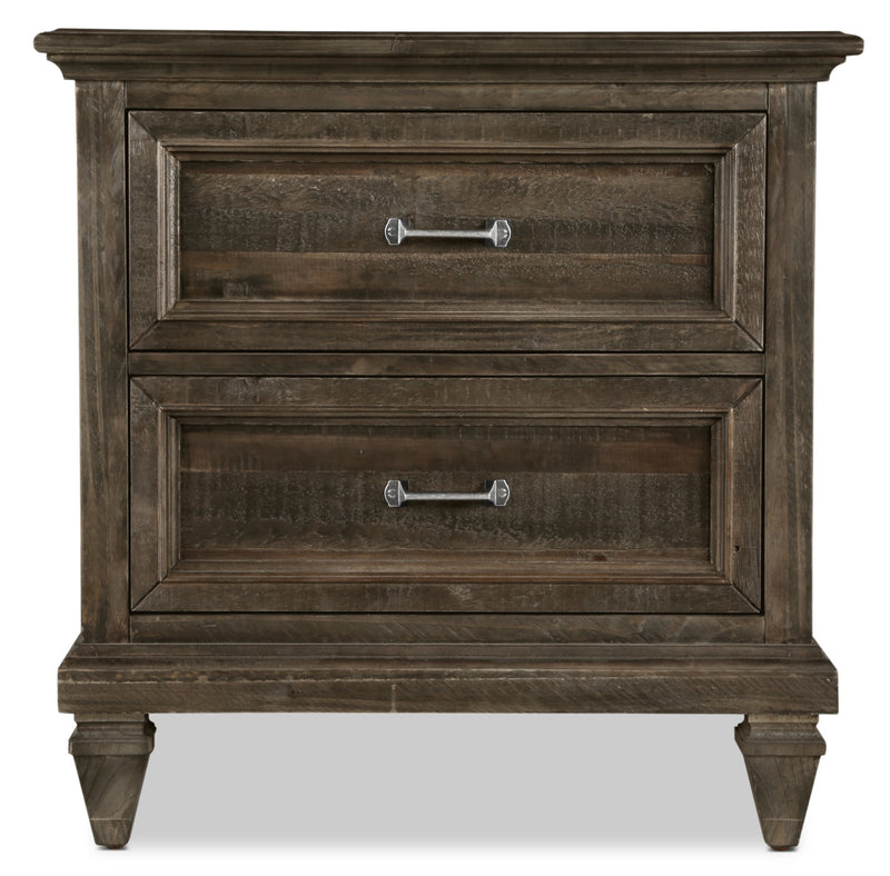 Calistoga Nightstand - Weathered Charcoal|Table de nuit Calistoga - anthracite vieilli