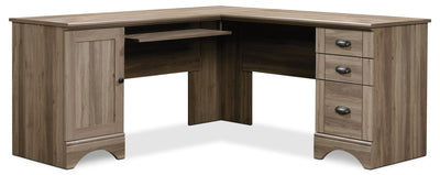 Harbor View Corner Desk – Salt Oak|Bureau de coin Harbor View - chêne salé|HARSADSK