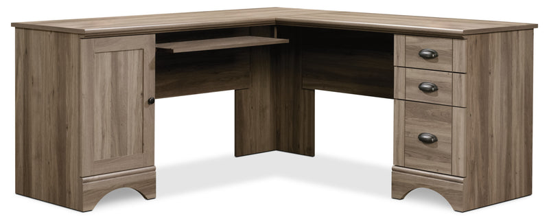 Harbor View Corner Desk – Salt Oak|Bureau de coin Harbor View - chêne salé