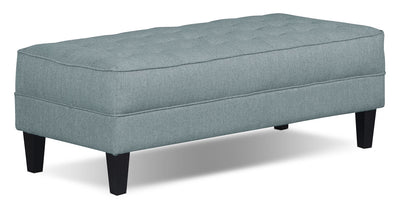 Paris Linen-Look Fabric Ottoman – Spa - Modern style Ottoman in Spa