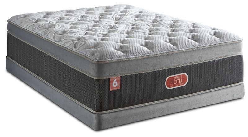 Beautyrest® Hotel Diamond 6 Plush Ultra Euro-Top Queen Mattress Set|Ensemble moelleux à Euro-plateau épais Hotel Diamond 6 de Beautyrest pour grand lit