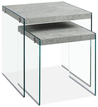 Yonah 2-Piece End Table – Cement Grey