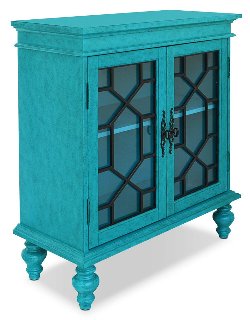 Rigolet Small Accent Cabinet – Blue|Armoire décorative Rigolet de 32 po