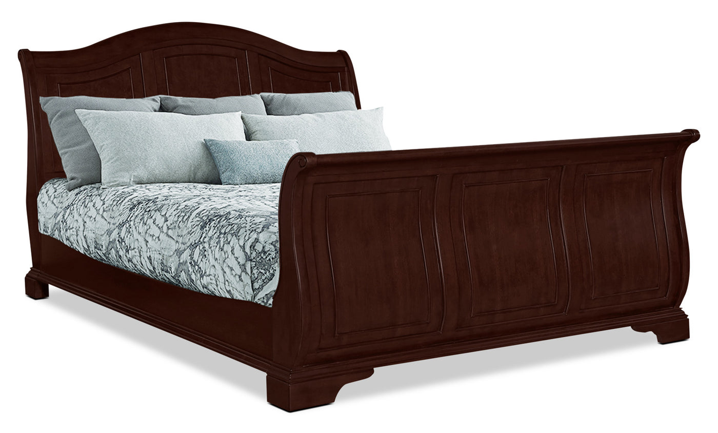 - Carmen King Sleigh Bed – Cherry The Brick