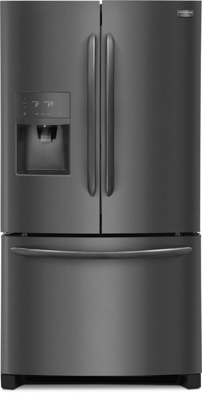 Frigidaire Gallery 27.2 Cu. Ft. French-Door Refrigerator – FGHB2868TD - Refrigerator with Exterior Water/Ice Dispenser in Black Stainless Steel