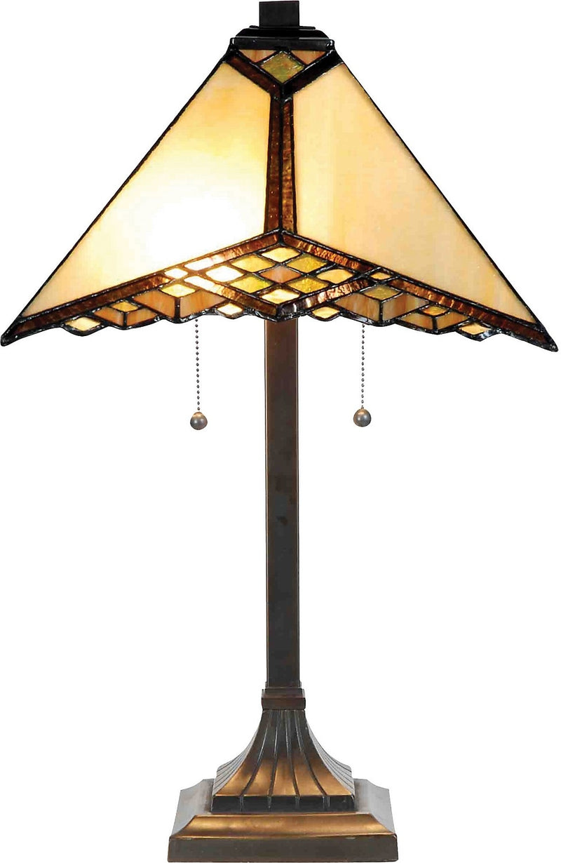 Hamilton Table Lamp with Stained Glass Shade|Lampe de table Hamilton avec abat-jour en vitrail