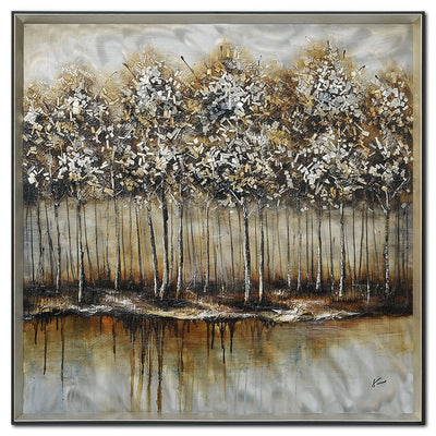 "Metallic Forest - 40"" x 40""
