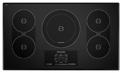 KitchenAid 36'' Electric Induction Cooktop – KICU569XBL|Table de cuisson électrique à induction KitchenAid de 36 pouces - KICU569XBL|KICU569XB