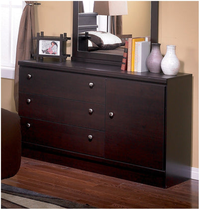 Dark Saddle Birch Dresser|Commode bouleau foncé|201-821