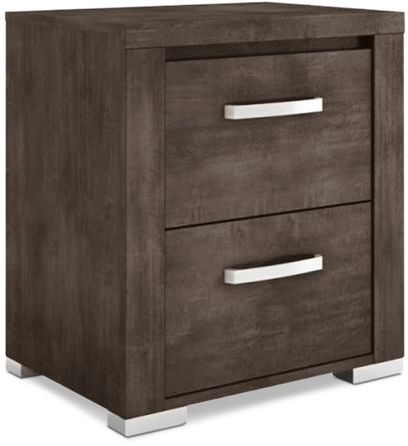 Monaco Nightstand – Anthracite Grey|Table de nuit Monaco – anthracite
