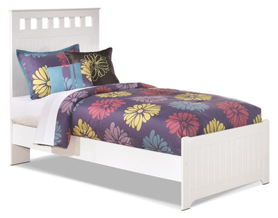 Lulu Twin Panel Bed - Country style Bed in White