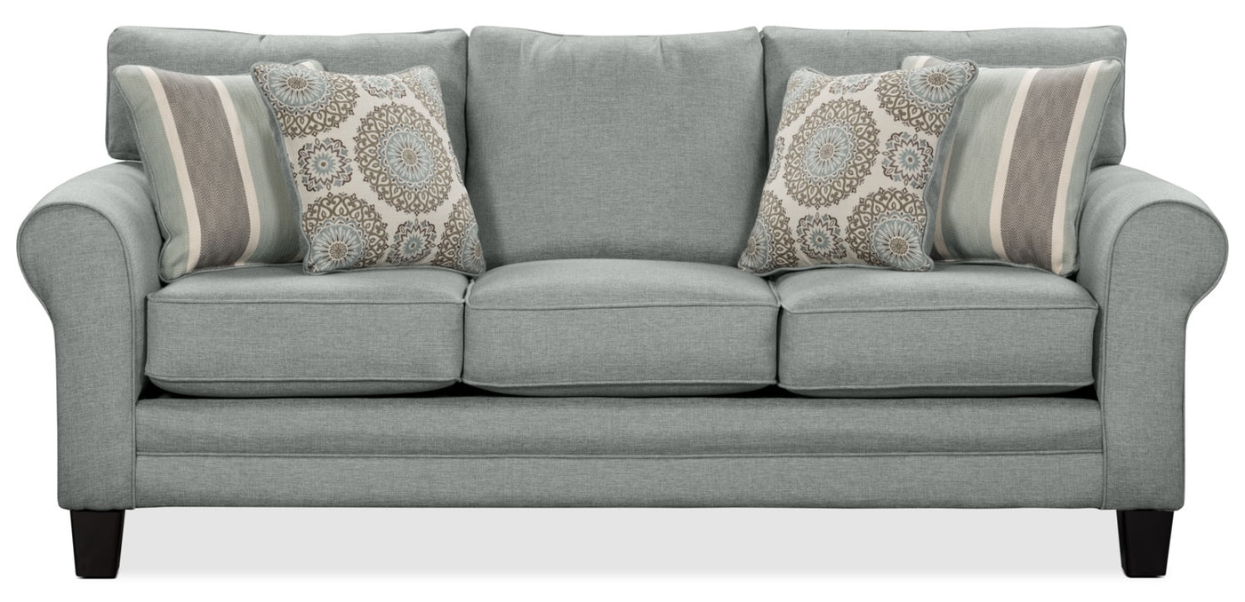 Tula Fabric Queen Size Sofa Bed Mist