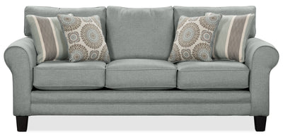 Tula Fabric Sofa – Mist - Traditional style Sofa in Mist