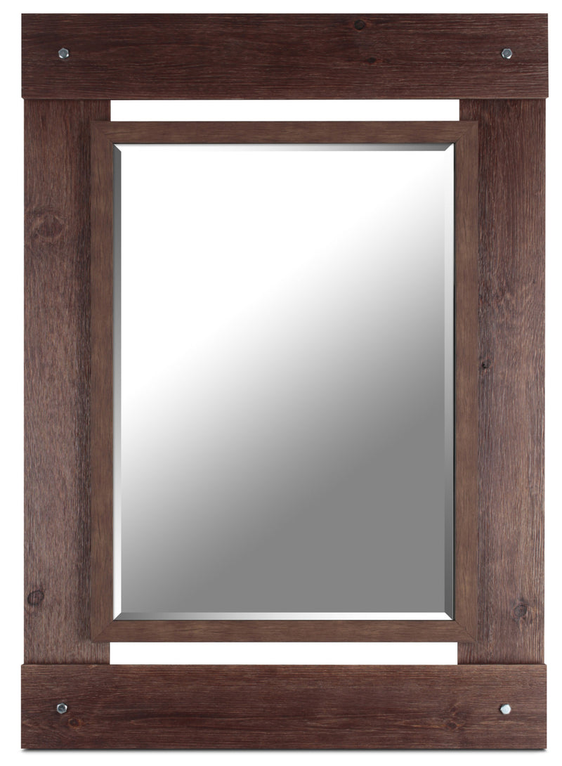 "Red French Country Mirror – 30"" x 42.5""