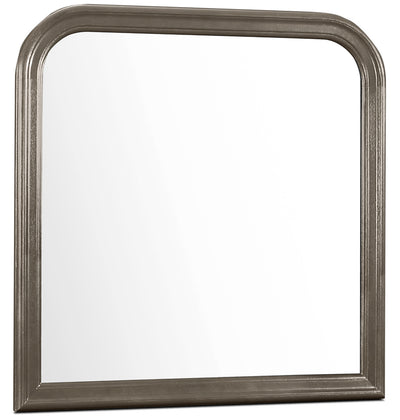 Lyla Mirror – Grey - Contemporary style Mirror in Grey Rubberwood Solids and Okoume Veneers