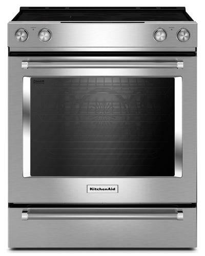 KitchenAid 6.4 Cu. Ft. Slide-In Electric Convection Range - YKSEG700ESS - Electric Range in Stainless Steel