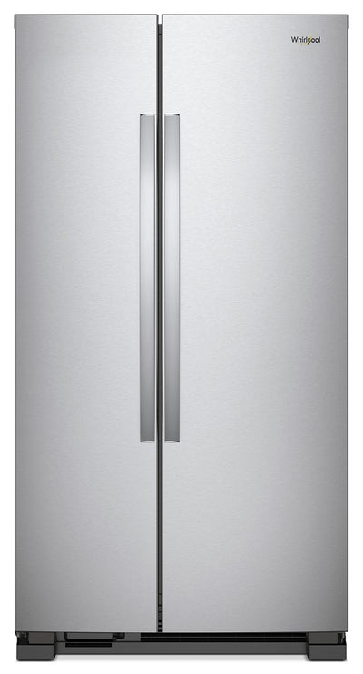 Whirlpool 22 Cu. Ft. Side-by-Side Refrigerator – WRS312SNHM - Refrigerator in Stainless Steel