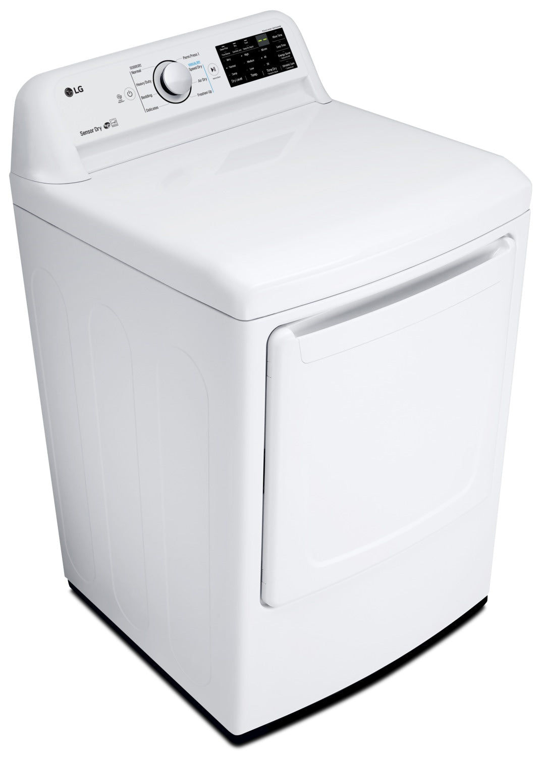 LG 7 3 Cu  Ft  Electric Dryer with Sensor Dryer Technology DLE7100W – White