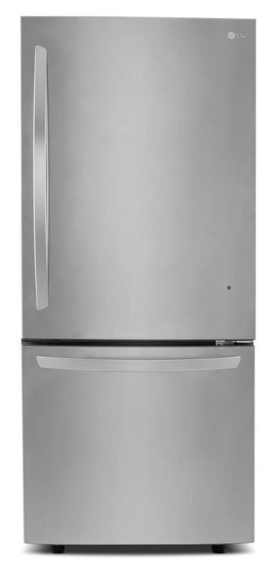 LG 22 Cu. Ft. Energy Star® Bottom-Mount Refrigerator – LDNS22220S - Refrigerator in Stainless Steel
