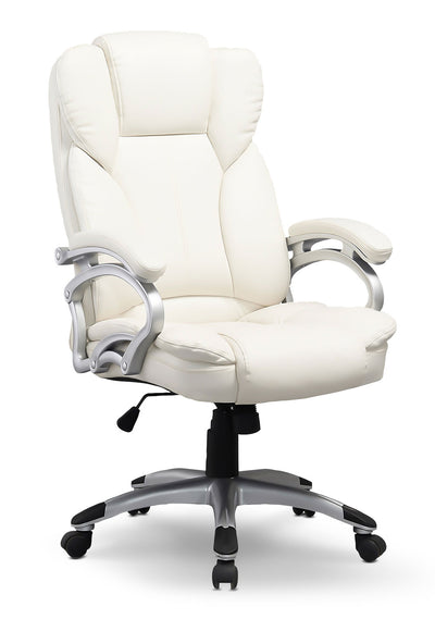 Lodwig Deluxe Office Chair - White - Modern style Office Chair in White
