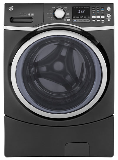 GE 5.2 Cu. Ft. Capacity Front-Load Washer with Stainless Steel Drum – GFW450SPMDG|Laveuse GE à chargement frontal de 5,2 pi³ avec tambour en acier inoxydable - GFW450SPMDG|GFW450MG
