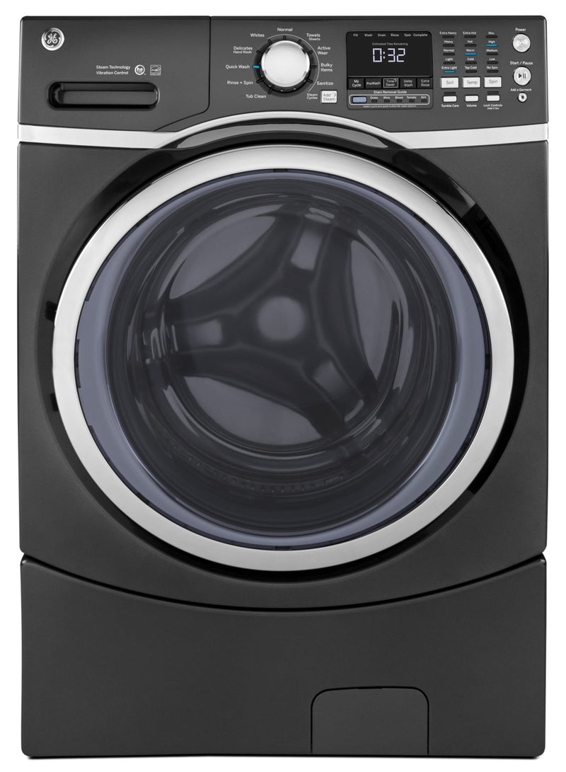 GE 5.2 Cu. Ft. Capacity Front-Load Washer with Stainless Steel Drum – GFW450SPMDG|Laveuse GE à chargement frontal de 5,2 pi³ avec tambour en acier inoxydable - GFW450SPMDG