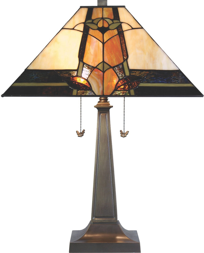 Marlow Table Lamp with Stained Glass Shade|Lampe de table Marlow avec abat-jour en vitrail|TBT89BPM