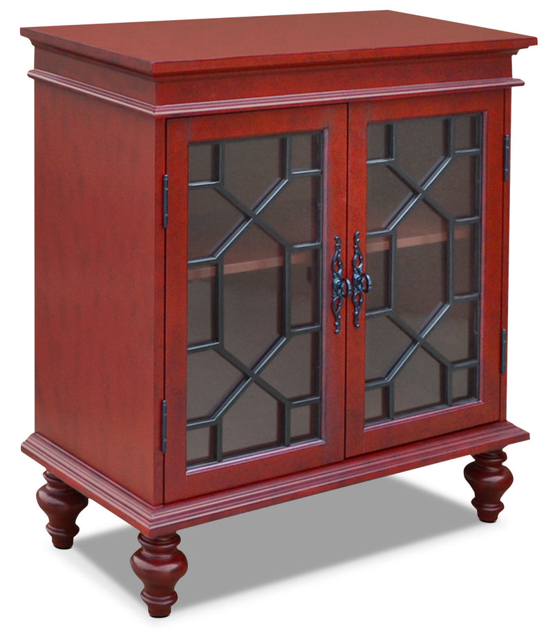 Rigolet Small Accent Cabinet – Red|Petite armoire décorative Rigolet - rouge