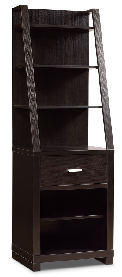 Kensington Right/Left Pier - Espresso - Contemporary style Storage Pier in Espresso Wood