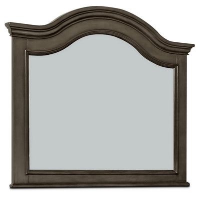 Carmen Mirror – Grey - Traditional style Mirror in Grey Poplar Solid and Birch Veneers